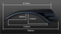 画像3: フロント GTオーバーフェンダー 60mmワイド