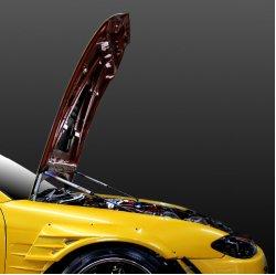 画像1: 競技用 油圧式ボンネットダンパー フルオープン